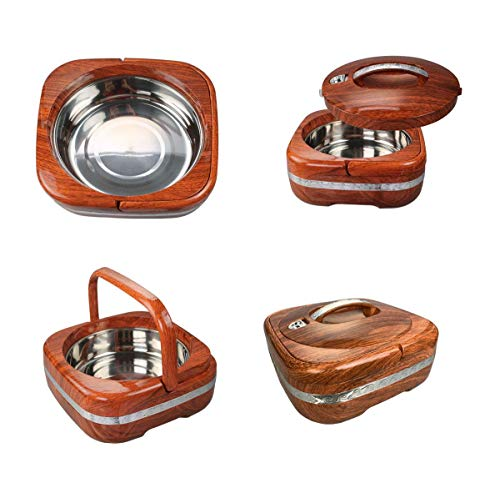GMMH Thermobehälter rund Essensbehälter,Marmor Farbe grün, 2, 4 l