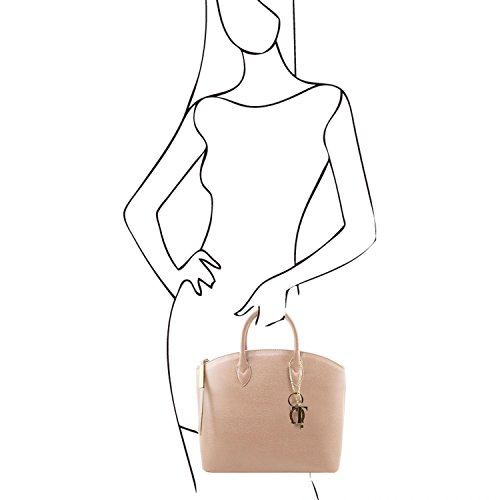 Tuscany Leather - TL KeyLuck - Borsa shopper in pelle Saffiano - TL141261 (Nude) Nude