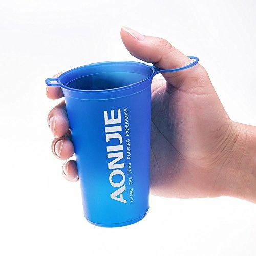 Imagen de lixada aonijie bpa free taza plegable del agua suave para el ciclo al aire libre del maratón de los deportes 200ml alternativa