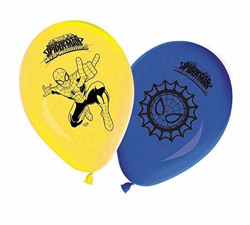 Unique Party Supplies 27,9cm Latex Ultimate Spiderman Luftballons, 8Stück