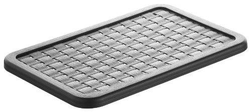 Rotho 1115408080 Deckel zu Aufbewahrungskiste Dekobox Country A5, Maß 28 cm x 19 cm x 1 cm (LxBxH), in Rattan-Optik aus Kunststoff (PP), schwarz (1-jährige Spielzeug-box, Für)