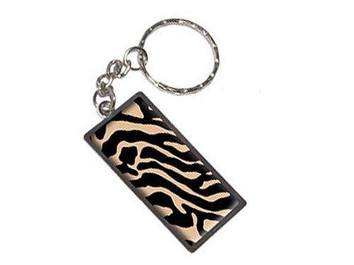 Zebra Print Tan Schlüsselanhänger Ring