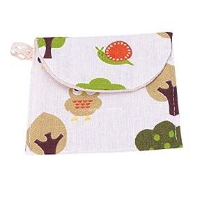 SUPVOX 8pcs Sanitary Napkins Storage Bags Portable Sanitary Napkin Pouches Nursing Pad Holders for Women and Girls