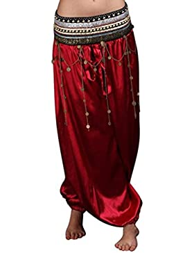 Pantalones Hippies Mujer Elegante Carnaval Pantalones De Linterna Fashion Traje De Danza del Vientre Pantalones...