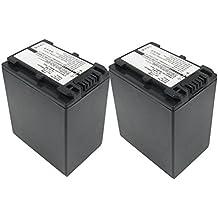 2x subtel® Batería premium para Sony FDR-AX33, -AX100, -AX53, -AXP33, HDR-PJ620, -PJ810, HDR-CX900, NEX-VG30 (2200mAh) NP-FV90 bateria de repuesto, pila reemplazo, sustitución