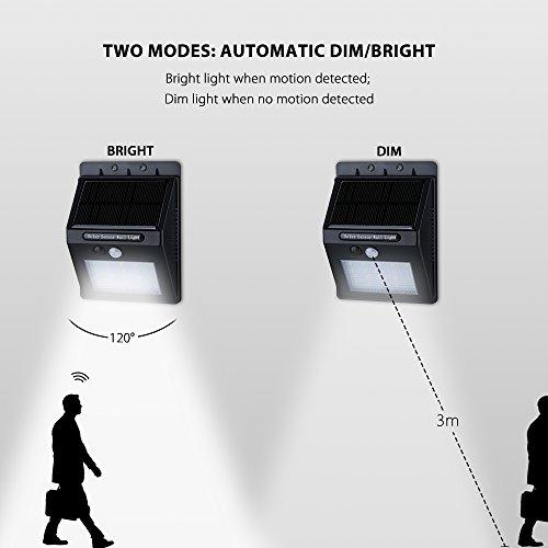 VicTsing-Luz-de-solar-LEDfoco-LED-con-Sensor-de-Movimiento-de-400lm-20-LEDs-4-Packs