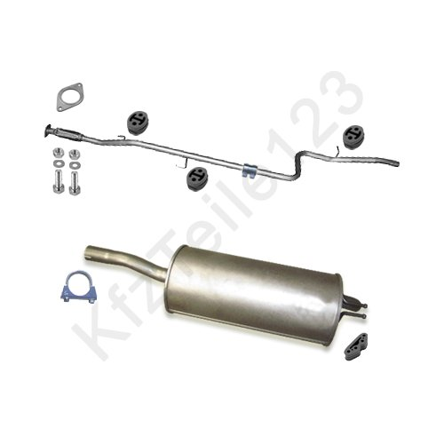 Schalldämpfer_Anlage Auspuff Auspuffanlage + Montagesatz
