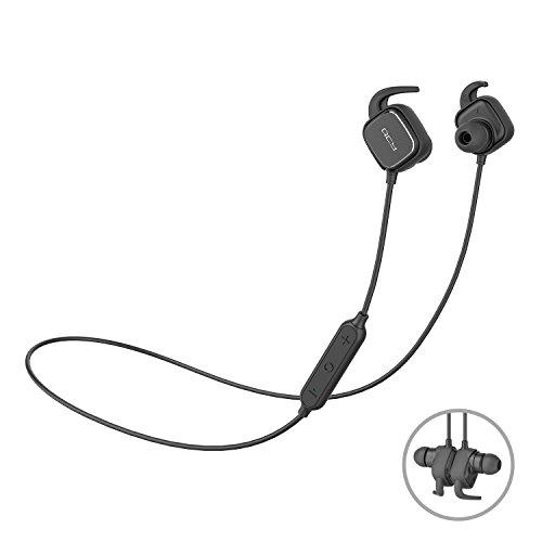 Cuffie Bluetooth magnetica, QCY QY12 Bluetooth 4.1 senza fili In-Ear Cuffie sportive con cancellazione del rumore / Apt-X, per iPhone Samsung e bordo Android Phone