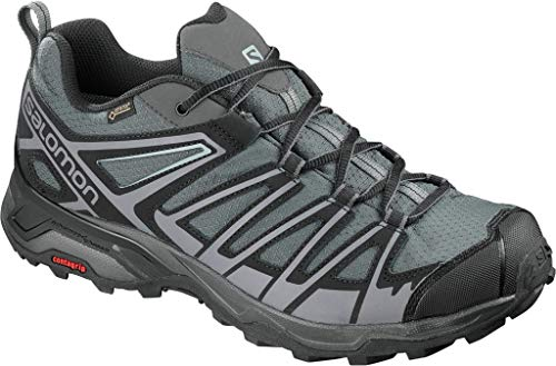 Salomon Herren X Ultra 3 Prime GTX, Wander- und Multifunktionsschuhe, Wasserdicht,Grau (Magnet/Black/Quiet Shade Magnet/Black/Quiet Shade),43 1/3 EU