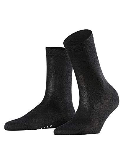 FALKE Damen Sensual Silk Seide Baumwolle hohe Farbbrillanz Einfarbig 1 Paar Zarte, federleichte Socken, Blickdicht, black, 37-38