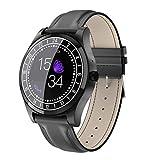 JASZHAO Bluetooth Smart Watch Männer Metall Armbanduhr Zifferblatt Anruf Herzfrequenz Blutdruck Sport Fitness Erkennung Smart Watch,C