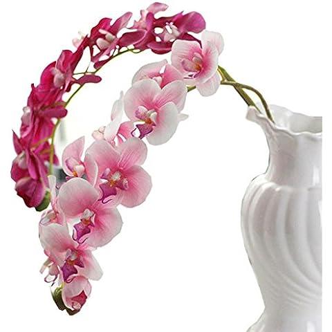 Fulltime® Simulazione farfalla orchidea phalaenopsis Branch casa giardino decorazione di DIY Pianta (Beige)
