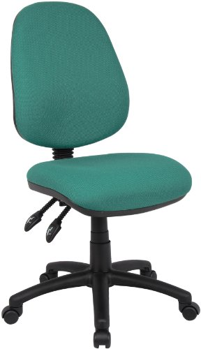 Fabric Operator seating (V100-00-N) Chaise dactylo 2 leviers Vert (H x lg x P) 99,5 x 112,5 x 49 cm (Import Royaume Uni)