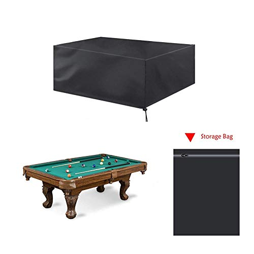 Gartenmöbel Set-Abdeckungen, Billard Snooker Tischdecke, Black Water & Dust Resistant Folding Billiard Pool Protective Cover - 2ST (Size : 225x116x82cm)