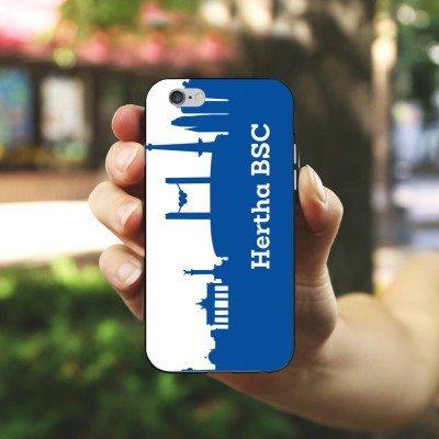 Apple iPhone 7 Tasche Hülle Flip Case Hertha BSC Fanartikel Silikon Case schwarz / weiß