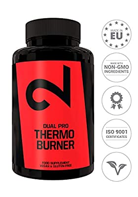 DUAL Pro Thermo Burner|Natural Thermogenic Fat Burner Diet Pills | 90 Vegan Capsules |Keto Diet Pills With Thermo Effect|100% Natural & No Additives| Weight Loss Pills For Men & Women |Lab Certified from Dual GmbH