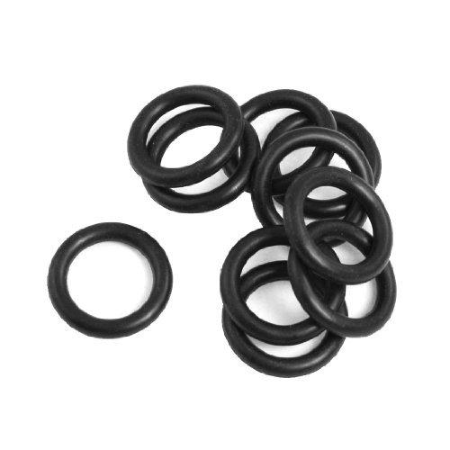 DealMux 25mm x 4mm NBR O-Ring-Dichtungen Lochscheiben für Automobile (10 Stück)