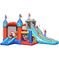 Mega 13 in 1 Kids Medieval Bouncy Castle Play Centre - 13 Features - The Ultimate Childrens Inflatable