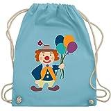 Bunt gemischt Kinder - Clown Luftballons - Unisize - Hellblau - WM110 - Turnbeutel & Gym Bag