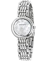 Philip Ginevra Women's Quartz Watch with White Dial Analogue Display and Silver Stainless Steel Strap R8253491512