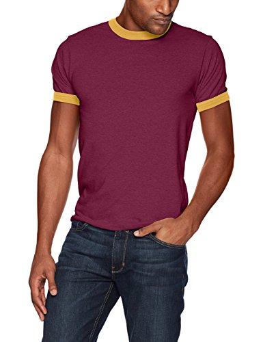 Augusta Sportswear Herren Ringer T-Shirt Medium Maroon/Gold -