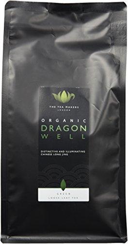 The Tea Makers of London Biologischer Drangon Well Longjing grüner Tee Tee von prämiertem Teeshop Geschenkidee, 1er Pack (1 x 250 g)