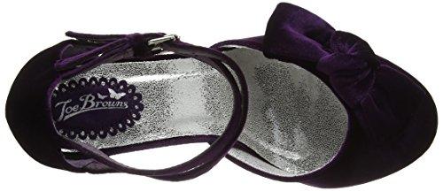 Double Cinturino Purple Caviglia con Scarpe Strap Browns Shoes alla Joe Donna Velvet Purple Very ZxwRqUUt