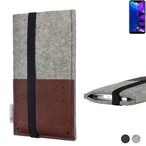 flat.design Handy Hülle Sintra für Allview Soul X5 Pro Handytasche Filz Tasche Schutz Kartenfach Case braun Kork