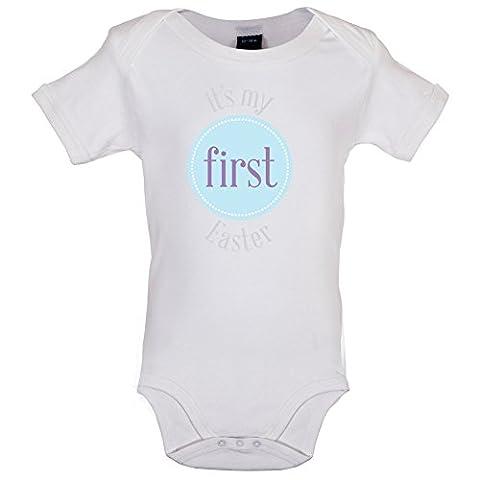 My First Easter - Boy - Marrant Bébé-Body - Blanc - 12 à 18 mois