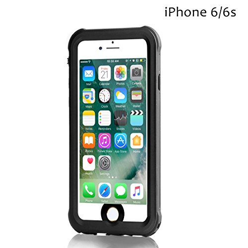 iPhone 6/6s Wasserdichte Hülle, Meritcase 4.7 Zoll Outdoor Staubdichte Schneedichte Stoßfeste Wasserdichte Schutzhülle für Schnorcheln Tauchen und Schwimmen