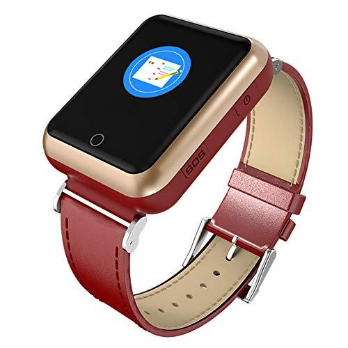 Gskj Alter Mann Smartwatch Gesundheit Intelligent Herzfrequenz-Uhr Wasserdicht GPS Dreifache Position SOS EIN Knopf Bitten Sie Um Hilfe Sportuhr,B