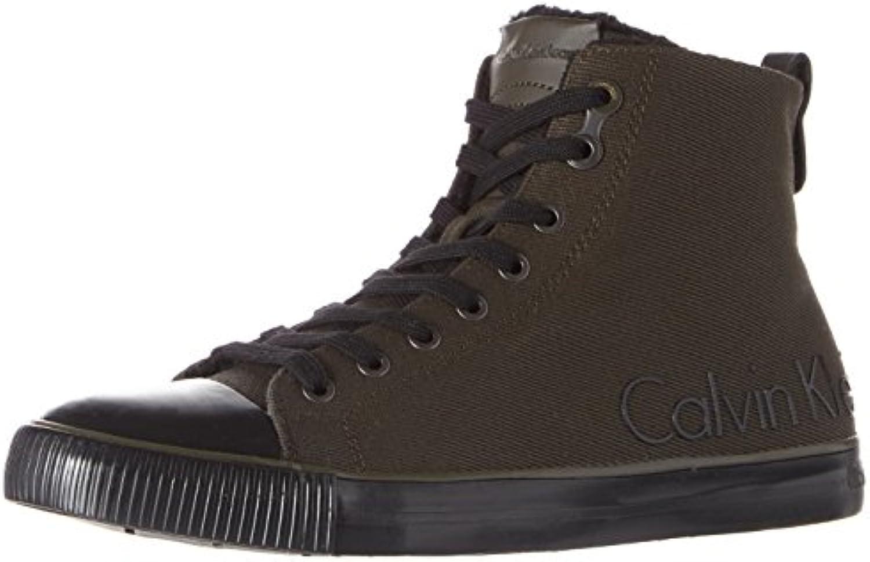Calvin Klein Jeans Aron Waxy Twill/Fur, Zapatillas Altas para Hombre -