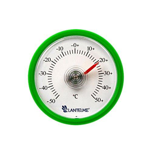 Lantelme 6259 Universal Thermometer - Mit Bimetall Federelement und Analoger Temperaturanzeige Kunststoff Farbe grün