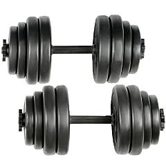 Idea Regalo - Physionics®, Manubrio corto con dischi, 30 kg