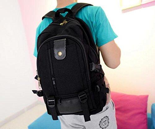 Baonmy Walking scuola escursioni bici campeggio borsa a tracolla sport all' aria aperta borsa zaino, Red Black