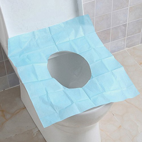 Qianle 50 Packs Disposable Paper Seat Covers Waterproof Toilet Seat Protector For Travel