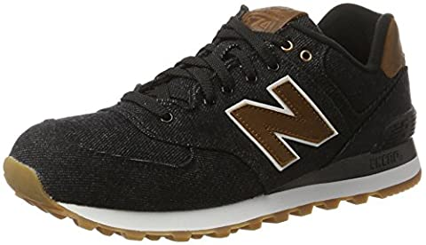 New Balance 574 15 Ounce Canvas, Baskets Basses Homme, Noir (Black), 41.5 EU