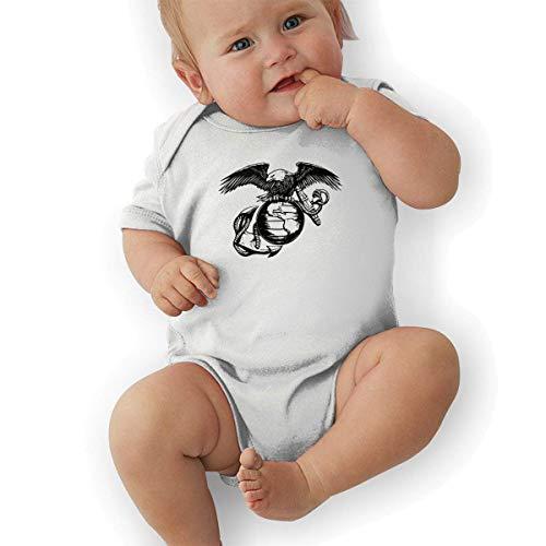 fdgjydjsh Eagle Globe Anchor USMC Marine Corps Funny Baby Onesies Novelty Toddler Infant Bodysuits Short Sleeve White 2T - Eagle Halfter
