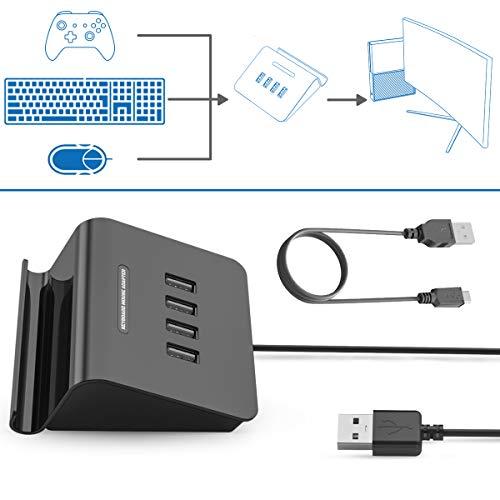 Ifyoo Kmax1Clavier et Souris Adaptateur convertisseur pour Xbox One/PS4/Switch/PS3-Compatible avec Pubg, H1z1et Autres Jeux de Prise de Vue