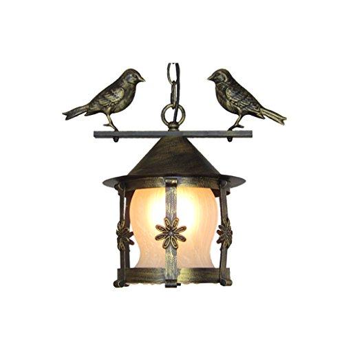 MILUCE Iron Art Single Head Kronleuchter Creative Balkon Aisle Glas Kronleuchter E27 Kleine Vogel Leuchten Ø20 * H30cm (Farbe : 4#) -