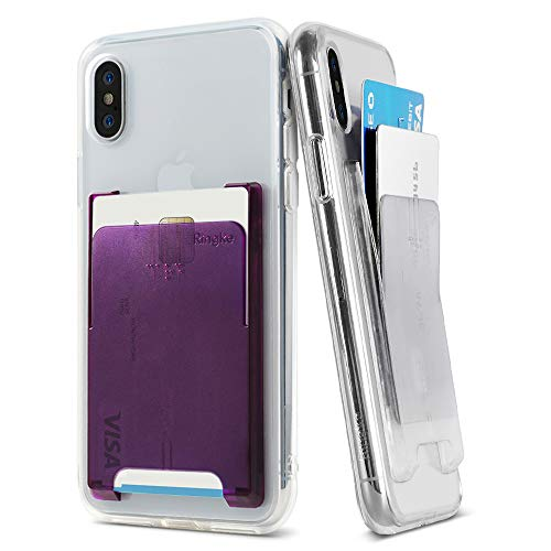Ringke Slot Card Holder [Clear Mist & Amethyst Purple]