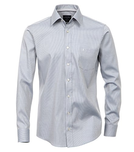 Casa Moda - Modern Fit - Bügelfreies Herren Business langarm Hemd in verschiedenen Farben (352314300) Grau (700)