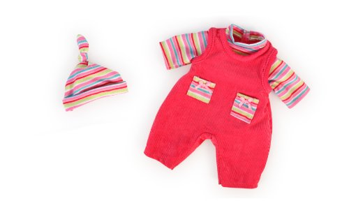 bayer-design-38cm-trousers-with-shirt-and-cap-for-dolls-pink