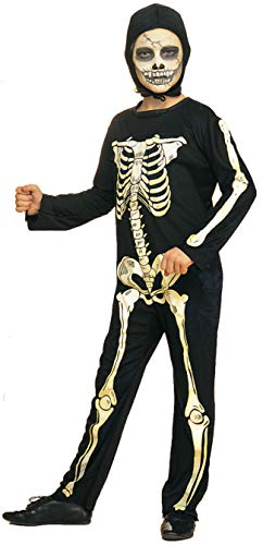 Rubie's Offizielles Halloween-Kostüm für Jungen, Design: Haunted House Skelett (Kind)