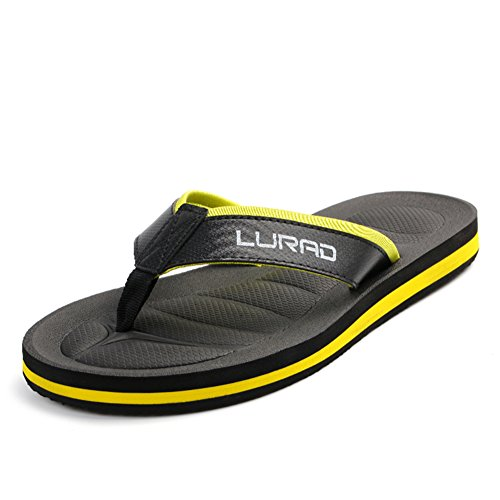 été Sandales d'homme/Pincer les chaussures à talon plat feuillet A