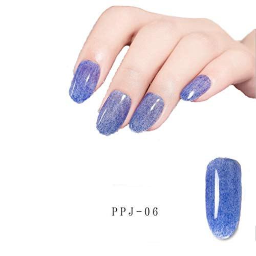 Cwemimifa Splitter Set,Neu Gel Nagellack Glitter UV LED Maniküre Gel Nagel Pailletten Polish Gel 12 Co,G