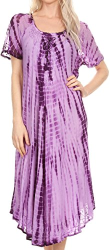 sakkas-17601-yasmin-tie-dye-brode-sheer-manches-sundress-cover-up-purple-os