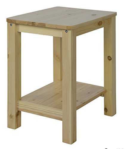 PEGANE Table de Chevet Bois Coloris Naturel - Dim : P 74 x H 32 x L 38 cm