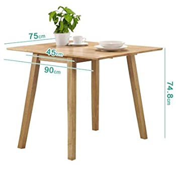 NEW HAVEN Drop Leaf Dining Table in Oak - Seats 4