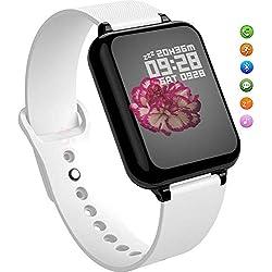 TNUGF Montre Connectée Bracelet Smartwatch Sport Podomètre Femme Homme Fréquence Cardiaque Pression artérielle oxymètre étape Appel Rappel Rappel Bluetooth Bracelet étanche